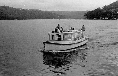 Elvina ferry near Church Point, 1976 (photo courtesy of Graeme Andrews)